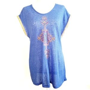 Umgee Tribal Aztec embroidered top Large